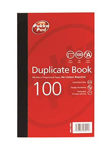 Pukka Pads Value 216x130mm Plain Ruled Duplicate Book (Pack of 5)
