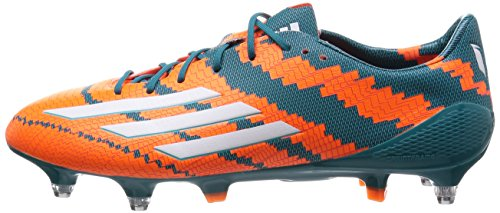 adidas Messi Mirosar10 10.1 SG Herren Fußballschuhe, Orange (Power Teal F14/Ftwr White/Solar Orange), 39 1/3