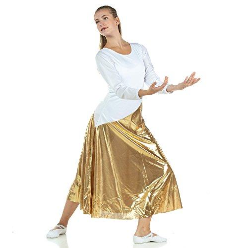 08e78f1b8bdf4 Danzcue Womens Bi Color Long Sleeve Worship Dance Dress | Weshop Vietnam