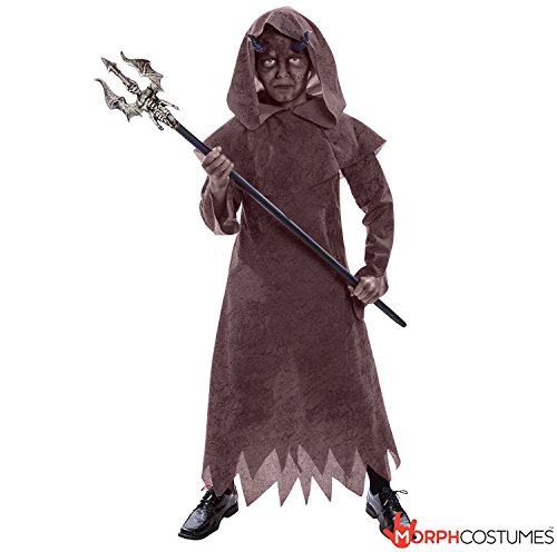Costume Evil Warlock (Boys Devil Evil Warlock Wizard Fancy Dress Costume - 2 Piece Quality)