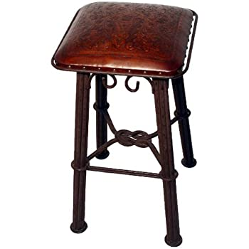 Amazon Com New World Trading Western Iron Counter Stool