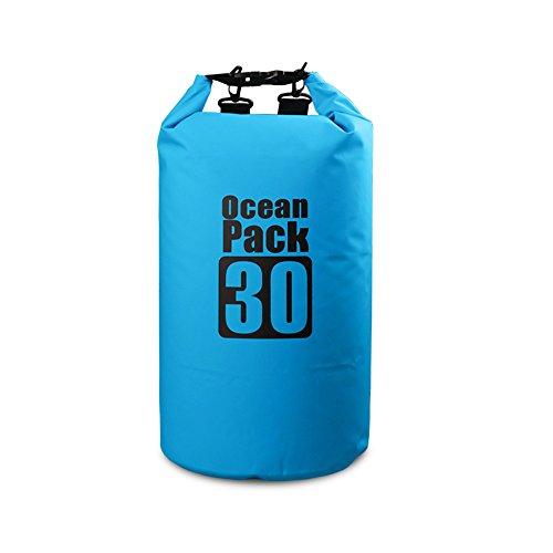 Bear Outdoor Dry Sack/Waterproof Bag for Boating, Kayaking, Hiking, Snowboarding, Camping, Rafting, Fishing and Backpacking 30L Blue