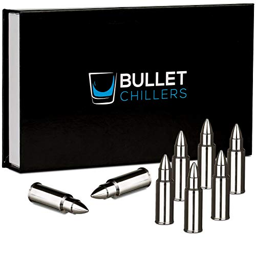 Bullet Chillers - Set of 8 - Stainless Steel Bullet Shaped Whiskey Stones]()