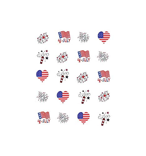 Red White & Blue (4th of July) Waterslide Nail Decals/Nail Art