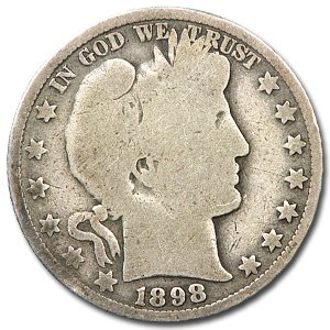 1898 O Barber Half Dollar AG Half Dollar About Good