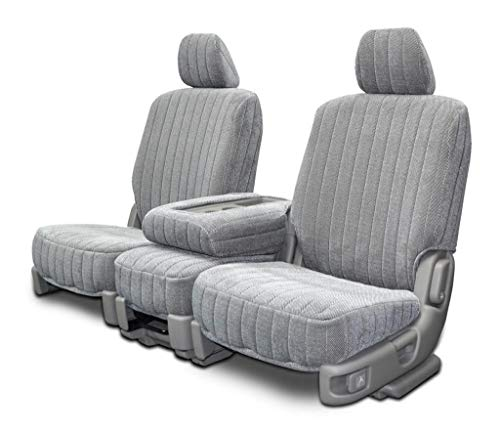 Custom Fit Seat Covers for Buick Lesabre Front 60/40 Split Bench - Silver Madrid Fabric ()