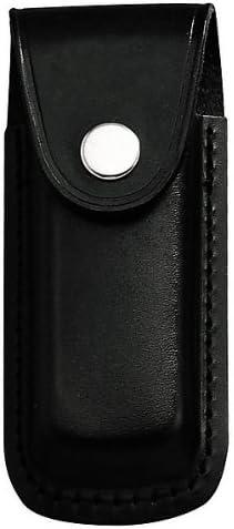 Jowiha estuche de piel para cuchillos 10 o de 12 centímetros de longitud del mango en negro o marrón, color Negro - negro, tamaño 11,13: Amazon.es: Deportes y aire libre