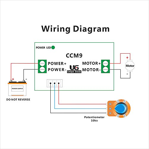 uniquegoods dc 12v - 24v (max) 3a dc motor speed ... fan speed control wiring diagram