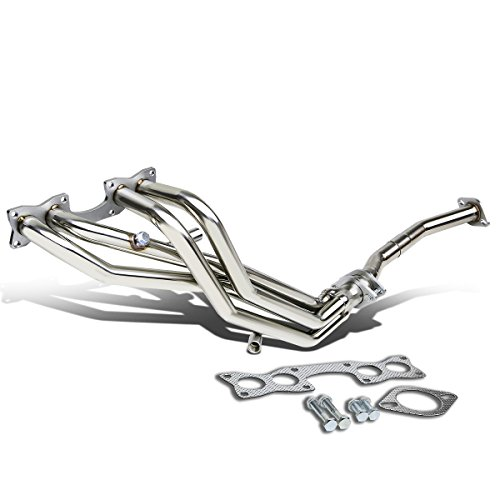 DNA Motoring HDS-ND2190-L4-LT Stainless Steel Exhaust Header ()