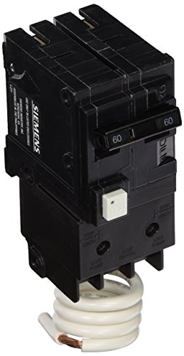 (Siemens QF260A 60 Amp, 2 Pole, 120/240V Ground Fault Circuit Interrupter with Self Test and Lockout Feature)