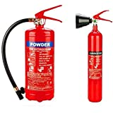 Fire Extinguisher 4kg Dry Powder & 2kg (5LBS) CO2 (Set)