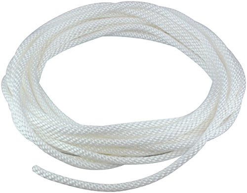 1/4″ Diameter x 50′ Length White Flagpole Polypropylene Halyard – Flagpole Rope