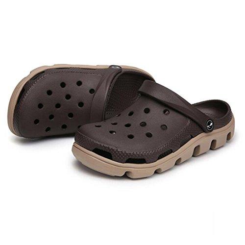 Uomo Piedi Estivi Pantofole Spesse Set da E da E Antiscivolo E Pantofole Brown Sandali di Spiaggia Scarpe wIOpq