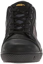 KEEN Utility Men\'s Destin Mid Steel Toe Shoe,Black/Gargoyle,10 D US