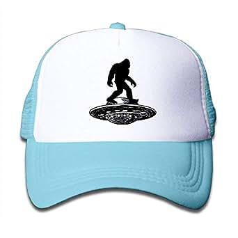 Bigfoot UFO Adjustable Snapback Kids Trucker Hat Caps for