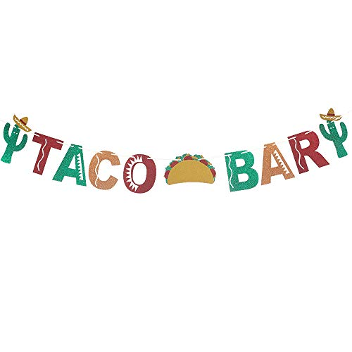 (Taco Bar Banner Sign Garlands for Fiesta Mexican Party Brithday Baby Shower Bachelorette Bridal Shower Engagement Party Decor Wedding Bar Banner Wedding Party Supplies)