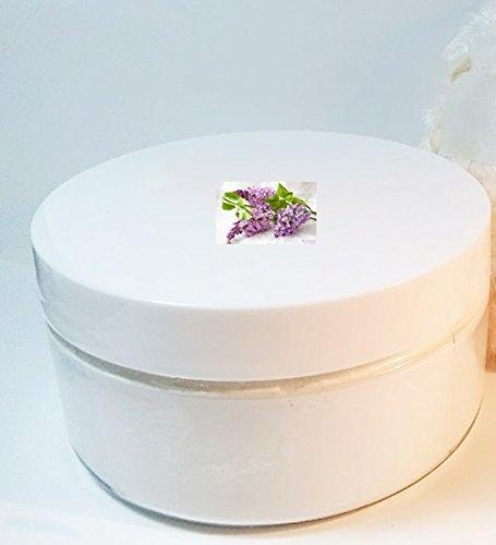 Lilac Powder - Lilac Scented Silk Powder Boxed Set - 8 oz Jar Silky Powder and Fluffy Fleece Powder Puff