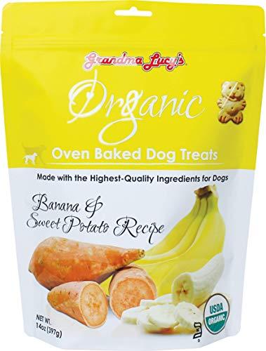 Grandma Lucy's Organic Oven Baked Dog Treats - Banana & Sweet Potato, 14 oz