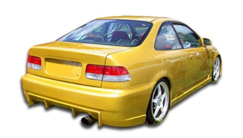 Duraflex Replacement for 1996-2000 Honda Civic 2dr / 4DR Buddy Rear Bumper Cover - 1 Piece (2dr Buddy Honda Civic)