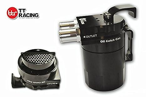 Universal doble de grosor doble depósito de aceite Catch Can tanque negro 0,5 L 15 mm y 19 mm: Amazon.es: Coche y moto