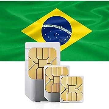 Tarjeta SIM prepago para Brasil con 2GB de Datos de Alta Velocidad válida por 30 días