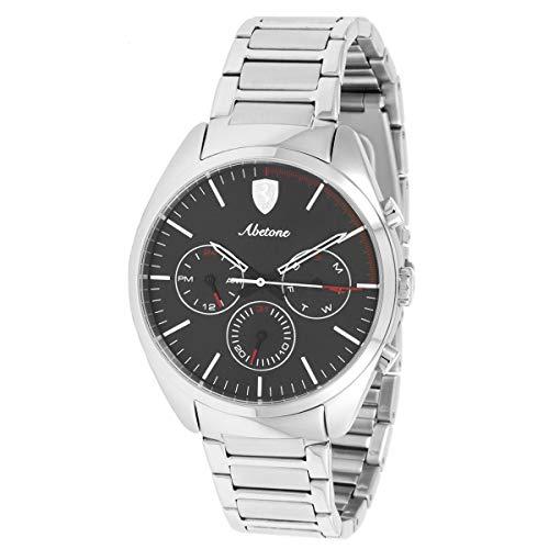 Ferrari Men's 'Abetone' Quartz Stainless Steel Casual Watch, Color:Silver-Toned (Model: 0830505)