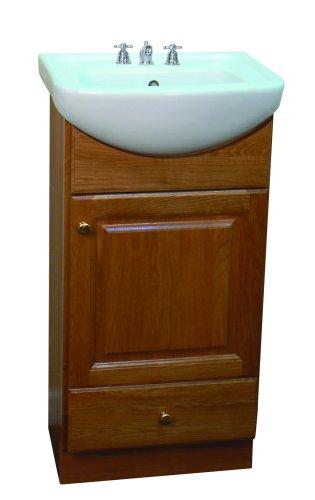 Beau SMALL VANITY FOR BATHROOM   CABINET AND SINK   PE1612OA NEW OAK PETITE  VANITY