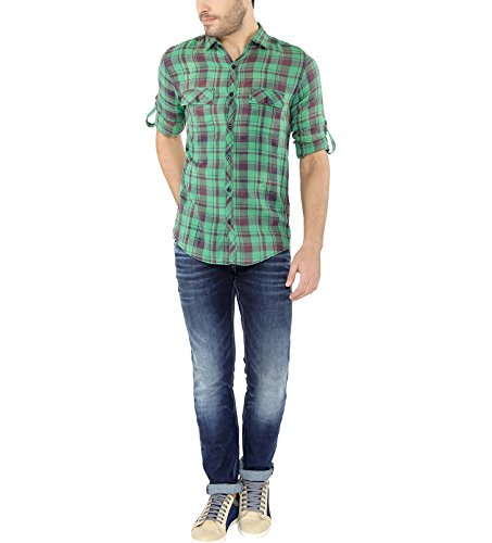 nick&jess - Chemise casual - Avec boutons - À Carreaux - Col Chemise Classique - Manches Longues - Homme