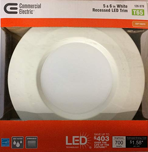 - Commercial Electric 5 in. and 6 in. White Recessed LED Trim with 2700K, 90 CRI