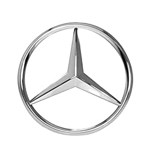 mercedes benz chrome front grill star emblem. Black Bedroom Furniture Sets. Home Design Ideas