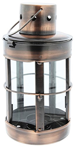 - Distinctive Designs Tea Light Candle Lantern Bronze-Tone Metal 8.5