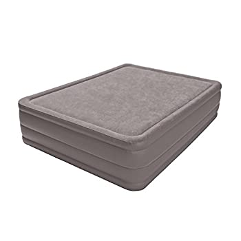 Image of Air Mattresses Intex Foam Top Elevated Airbed with Built-in Pump, Queen, Bed Height 20'
