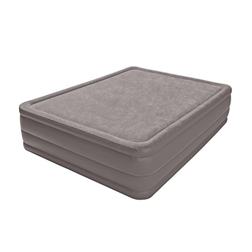 """Intex Foam Top Elevated Airbed with Built-in Pump, Queen, Bed Height 20"""""""
