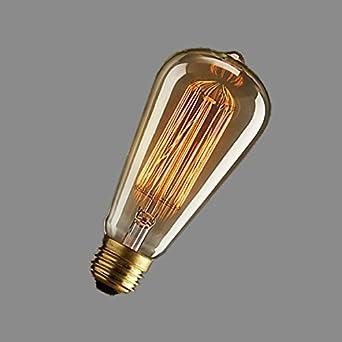 40W Bombillas LED para Hotel Edison dormitorio salón restaurante pasarela farolas ,40W dedicado: Amazon.es: Iluminación