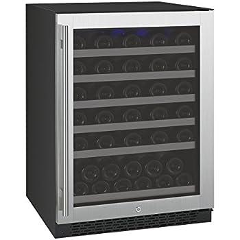 Allavino VSWR56-1SSRN - 56 Bottle Single Zone Wine Cellar Refrigerator with Right Hinge Built-In