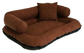 Cama para perros «Beate» en forma de sofá con cojín de microfibra: Amazon.es: Productos para mascotas