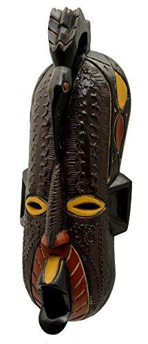 (African Sankofa Celebration Mask - Handcarved in Ghana)