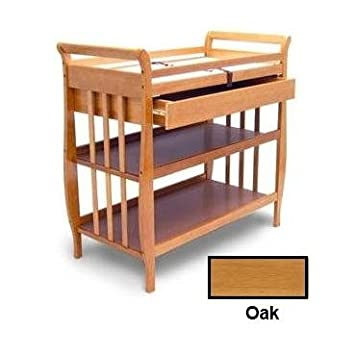 Angel Line Sleigh Changer With Draw, Oak