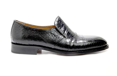 EYE Lizard 13 M Ostrich Men's Shoes On Leather Slip and Print Black SUq7Twd