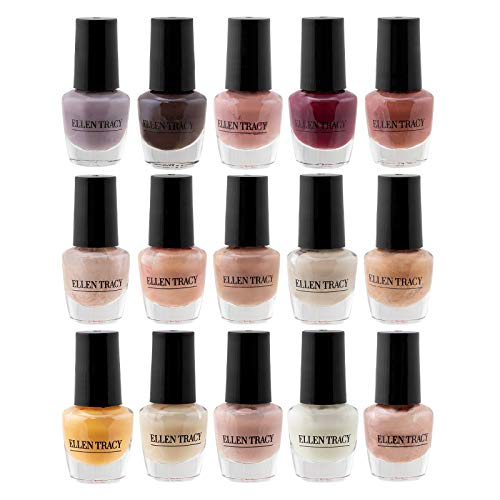 Ellen Tracy The Best Nudes MINI Nail Polish Collection (15 Pack, 0.14 FL.OZ / 4 ML)