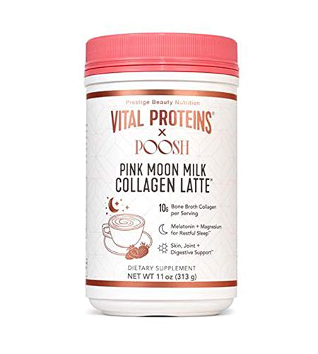 Vital Proteins X Poosh Collagen Powder Drink! Beauty-Boosting Collagen Blend! Supports Hair, Skin, And Nails! Gluten-Free and Dairy Free! Choose From Collagen Latte Or Collagen Vibes! (Collagen Latte)