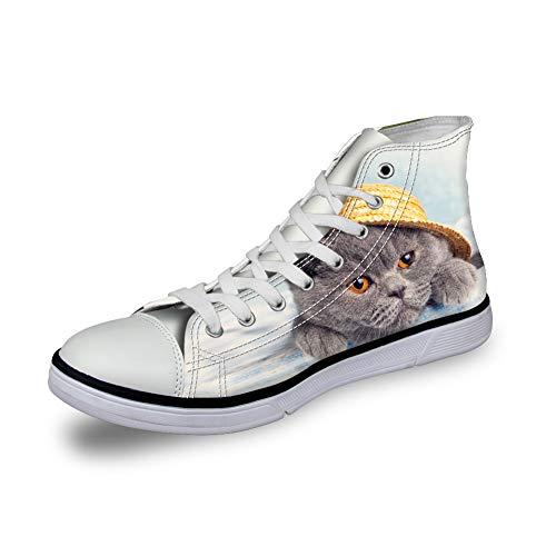 Mujer para 1 Cat Lona de Zapatos de Cordones Nopersonality xqW8w6YXTn