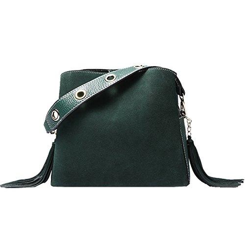 Lisa Medium Bolso Piel Verde mujer de hombro para DISSA al wXSdx8qvv