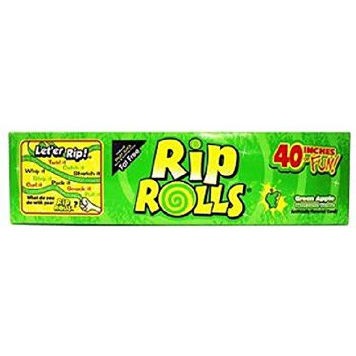 RIP ROLLS GREEN APPLE 1.4 oz Each ( 24 in a Pack )