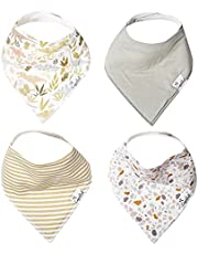 """Copper Pearl Baby Bandana Drool Bibs for Drooling and Teething 4 Pack Gift Set""""Rex"""" by Copper Pearl"""