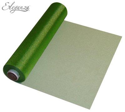 Organza pura suave - 29 cm x 25 m - color verde pistacho: Amazon ...