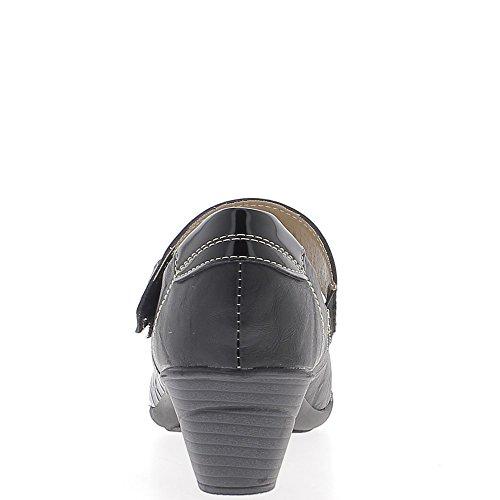 Escarpins noirs confort à large bride talon 4,5cm