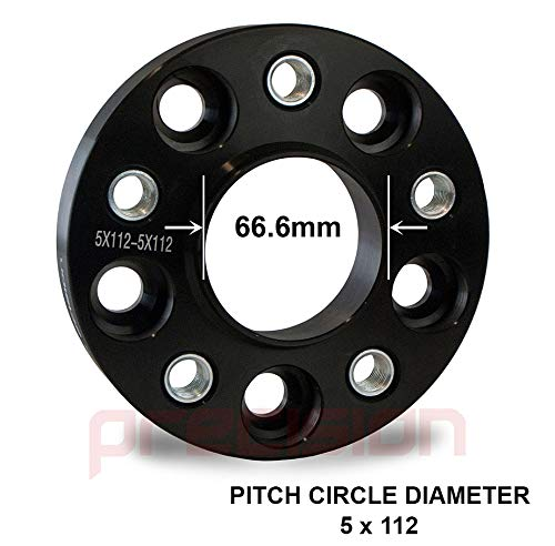 25mm Bolt-On Hubcentric Wheel Spacers 1 Pair for /Àudi A5 Alloy Wheels PN.SFP-2BS06B+10SB01114