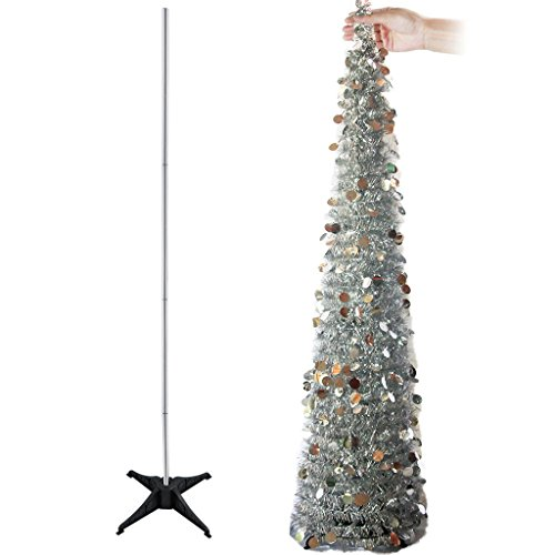 YUQI 5 Ft Artificial Trees Collapsible with Stand