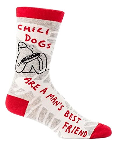 Blue Q Mens Chili Dogs Socks 7-12 Multi by Blue Q
